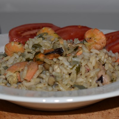 seafood rizotto