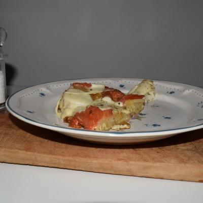 Ομελέτα mozzarella με πατάτες