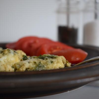 Ομελέτα με τυρί και σπανάκι 1